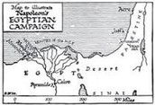 Map of napoleons invasion