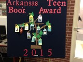 Arkansas Teen Book Award Display