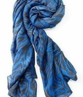 Cerulean tiger scarf $20