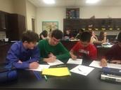 Ms. Covington is facilitating a lab.