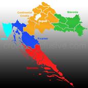 Croatia on a Regional Map