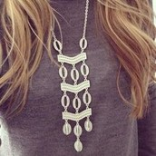 Kimberly Silver necklace $44