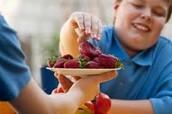 Obese child on diet