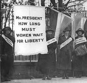 Suffragist Protesting at White House