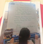 Grade 1 letter to the Prime Minister