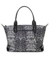 """How Does She Do it"" Bag Painted Zebra"