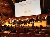 Students enjoyed the sounds and sites of the Kansas City Symphony at the Kauffman Center for the Performing Arts as they learned about the instruments.