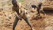 Miners working hard