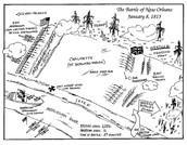 mapping of the battle of new orleans.