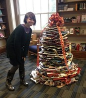 Thank you to a bunch of creative 5th and 8th grade engineers for helping build the book tree.
