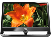 Monitor LCD 21.5 AOC Negro Piano VGA/DVI