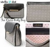 Tia Cross Body bag (black & white mosaic) $40