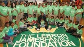 Lebron and his foundation.