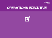 Operations Executive