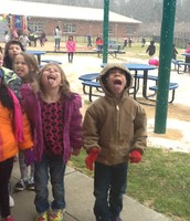 Kindergarteners love the snow.