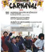 Cartaz Festa de Carnaval: Concurso Infantil, Desfile pelo Bairro e Nomeação da Miss e Mister Carnaval 2015