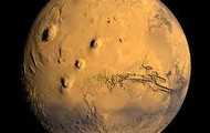 Mars is covered with  sand and dust and its surface is covered with rocks and boulders
