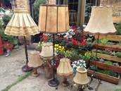 столни кожни антика ламби во повеќе големини
