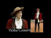 Viola disguised as Cesario