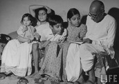 Gandhi's Happy Family