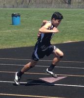 Ashton Serrato sets new school record in the boys 400 meter dash