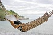 Edna in a hammock
