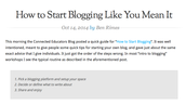 How to start blogging like you mean it