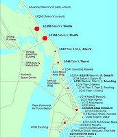 Launch Sites at Cape Canaveral and Merritt Island