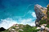 Cabo da Boa Esperança - Ponto onde o Oceano Atlântico encontra o Indico