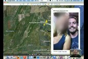 Facebook stalking location.