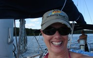 Sailing on Lake DeGray with my family