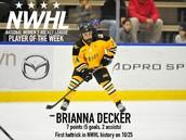 Brianna Decker: Player of the Week