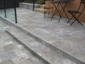 Silver 12x24  Tumbled Pavers