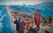 משה מוציא את בני ישראל ממצרים