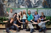 MVCA teachers and students hamming it up for the camera!