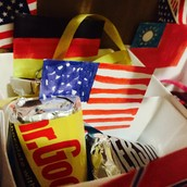 The Small Box with American Flag