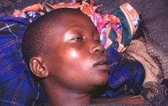 A kid about to die from the Sleeping sickness