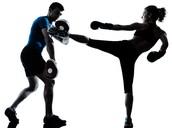 Muay Thai shin kicks