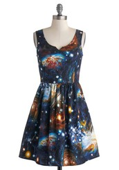 Heart and Solar System Dress
