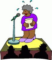 Giving a speech!