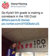 100 Club Members are Growing