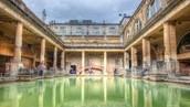 A Roman bathhouse