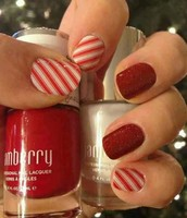 Candy Cane & Cardinal lacquer