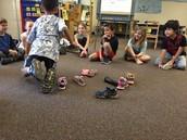 Sra. Nava's class and a fun morning meeting greeting