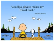 A sad good-bye...