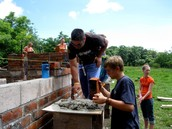 Laying Brick for the House