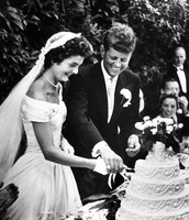 John and Jackie Kennedy at their wedding
