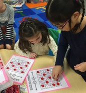Playing a fun Valentine's math game