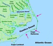 Where is Pamlico Sound?