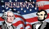 Feb. 15: Presidents Day